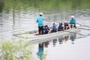 4人乗り手漕ぎボートの体験